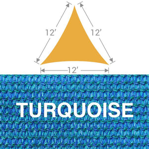 TS-12 Triangle Shade Sail - Turquoise