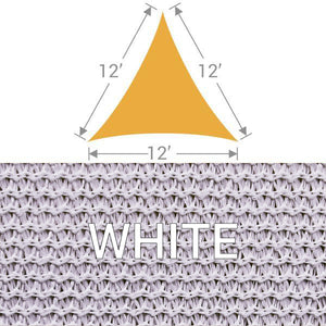 TS-12 Triangle Shade Sail - White