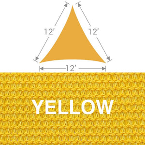 TS-12 Triangle Shade Sail - Yellow