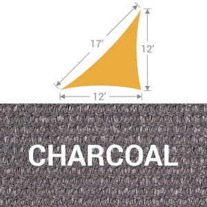 TS-1217 Triangle Shade Sail - Charcoal