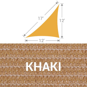 TS-1217 Triangle Shade Sail - Khaki