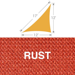 TS-1217 Triangle Shade Sail - Rust