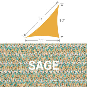 TS-1217 Triangle Shade Sail - Sage