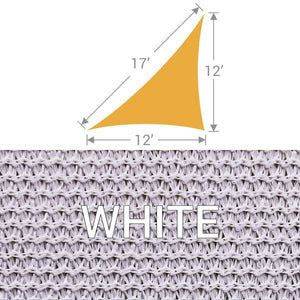 TS-1217 Triangle Shade Sail - White