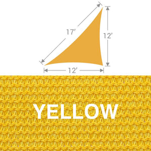 TS-1217 Triangle Shade Sail - Yellow