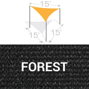 TS-15 Sail Shade Structure Kit - Forest