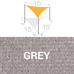 TS-15 Sail Shade Structure Kit - Grey