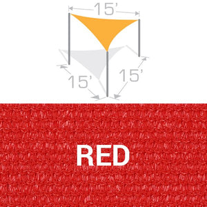 TS-15 Sail Shade Structure Kit - Red