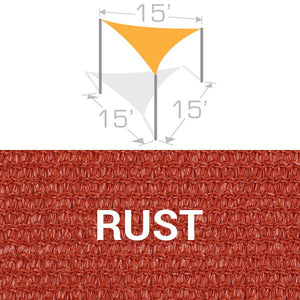TS-15 Sail Shade Structure Kit - Rust