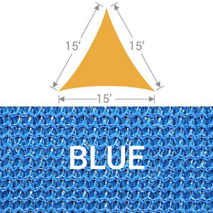 TS-15 Triangle Shade Sail - Blue