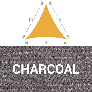 TS-15 Triangle Shade Sail - Charcoal