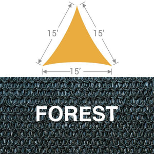 TS-15 Triangle Shade Sail - Forest