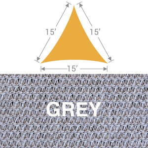 TS-15 Triangle Shade Sail - Grey