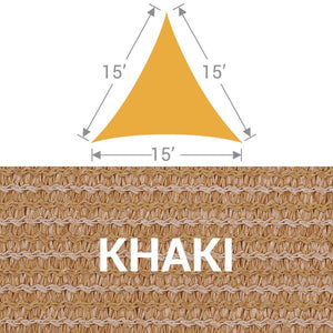 TS-15 Triangle Shade Sail - Khaki