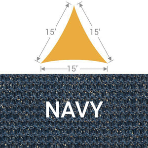 TS-15 Triangle Shade Sail - Navy