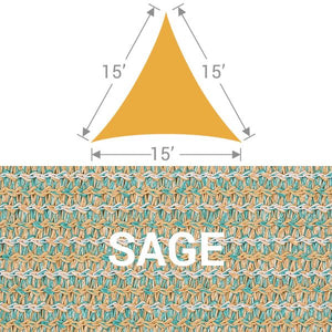 TS-15 Triangle Shade Sail - Sage