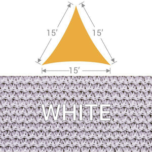 TS-15 Triangle Shade Sail - White
