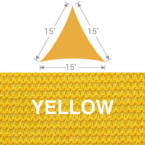 TS-15 Triangle Shade Sail - Yellow