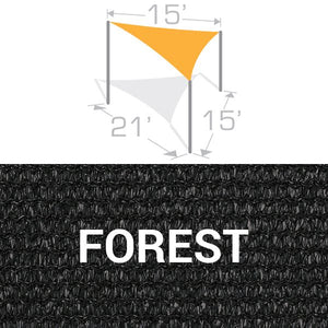 TS-1521 Sail Shade Structure Kit - Forest
