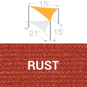 TS-1521 Sail Shade Structure Kit - Rust