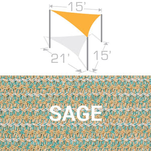 TS-1521 Sail Shade Structure Kit - Sage