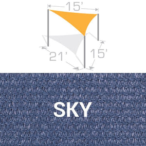 TS-1521 Sail Shade Structure Kit - Sky