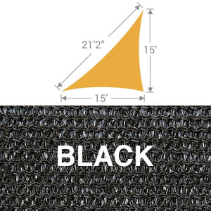 TS-1521 Triangle Shade Sail - Black