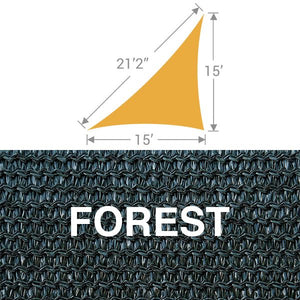 TS-1521 Triangle Shade Sail - Forest