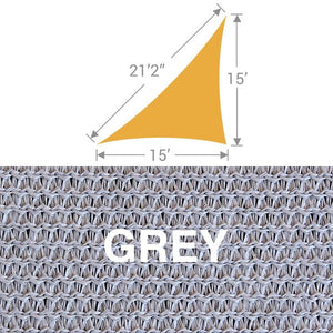 TS-1521 Triangle Shade Sail - Grey