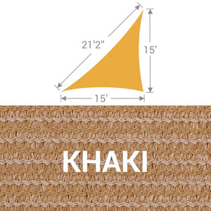 TS-1521 Triangle Shade Sail - Khaki