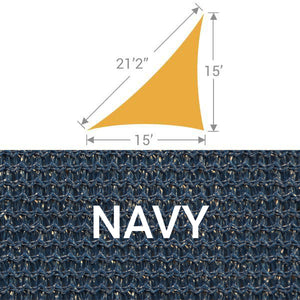 TS-1521 Triangle Shade Sail - Navy