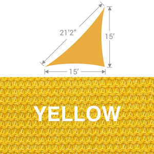 TS-1521 Triangle Shade Sail - Yellow