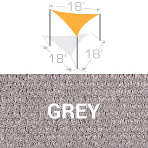 TS-18 Sail Shade Structure Kit - Grey