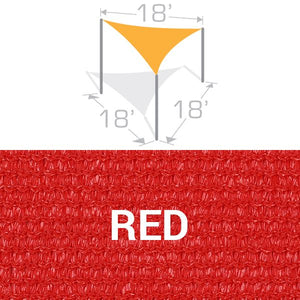 TS-18 Sail Shade Structure Kit - Red