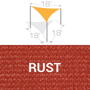 TS-18 Sail Shade Structure Kit - Rust