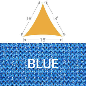 TS-18 Triangle Shade Sail - Blue