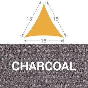 TS-18 Triangle Shade Sail - Charcoal