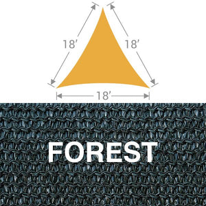 TS-18 Triangle Shade Sail - Forest