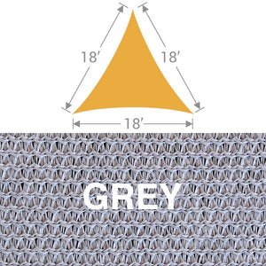 TS-18 Triangle Shade Sail - Grey