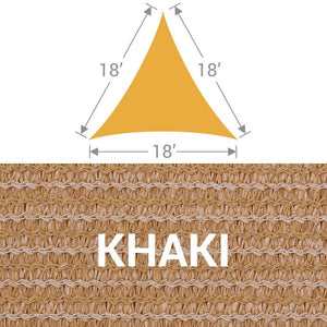 TS-18 Triangle Shade Sail - Khaki