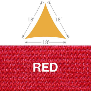 TS-18 Triangle Shade Sail - Red