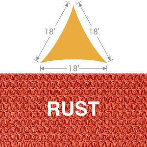 TS-18 Triangle Shade Sail - Rust