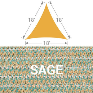 TS-18 Triangle Shade Sail - Sage