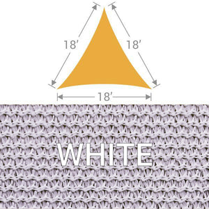 TS-18 Triangle Shade Sail - White