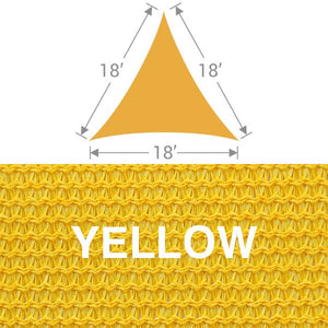 TS-18 Triangle Shade Sail - Yellow