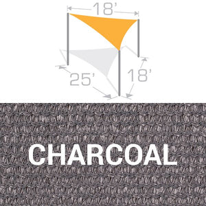 TS-1825 Sail Shade Structure Kit - Charcoal