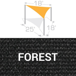 TS-1825 Sail Shade Structure Kit - Forest