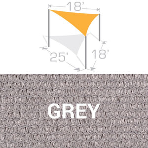 TS-1825 Sail Shade Structure Kit - Grey