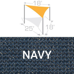 TS-1825 Sail Shade Structure Kit - Navy