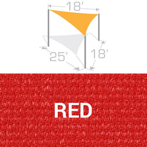 TS-1825 Sail Shade Structure Kit - Red